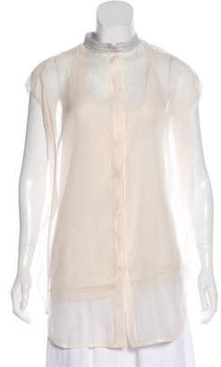 Brunello Cucinelli Embellished Cap Sleeve Tunic