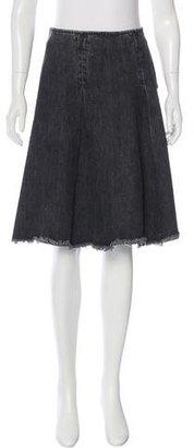 Junya Watanabe Denim Knee-Length Skirt $230 thestylecure.com