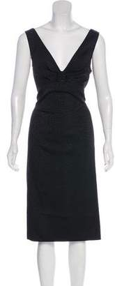 St. John Sleeveless Midi Dress w/ Tags