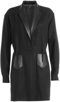 Barbara Bui Blazer Dress with Leather