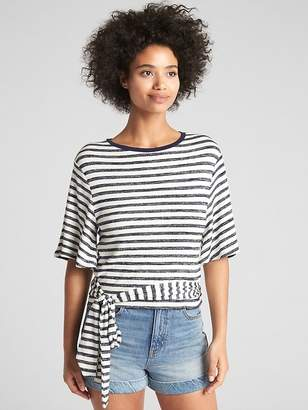 Gap Softspun Short Sleeve Wrap-Belt Top