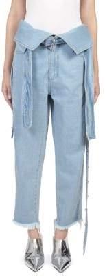Marques Almeida Marques'Almeida Belted Foldover Jeans