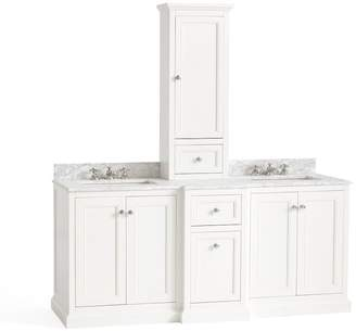 Pottery Barn Ultimate Double Sink Storage Vanity with Hutch