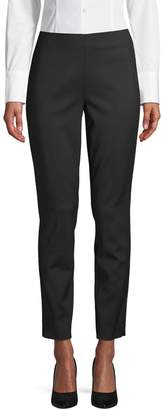 Pure Navy Astor High-Rise Slim Pants