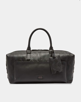 Ted Baker PAYZ Embossed leather holdall