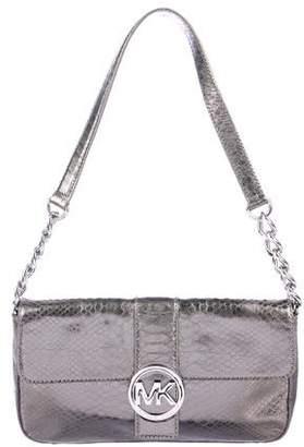 MICHAEL Michael Kors Fulton Embossed Leather Shoulder Bag