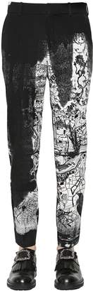 Alexander McQueen 17cm London Map Print Wool Twill Pants