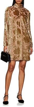 Masscob Women's Devoré Velvet Mini Dress