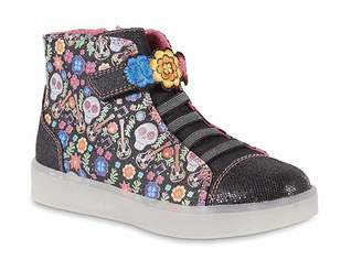 Disney Girls Coco Skulls High-Top Light-Up Sneaker