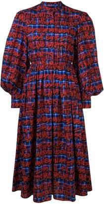 MSGM printed checked dress