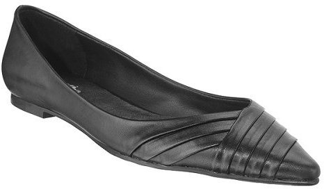 Mossimo® Daphne Patent Pleated Flats - Black