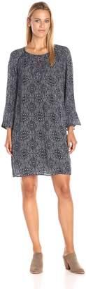 Velvet by Graham & Spencer Women's Batik Print Embroidered Dress