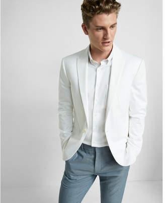 Express slim cotton blend white blazer