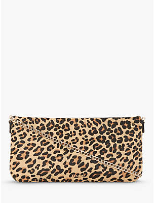 Dune Bronwynn Leather Cross Body Bag, Leopard
