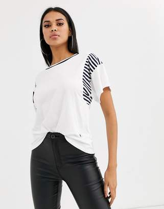 G Star G-Star Norcia organic cotton boyfriend t-shirt with stripe detail