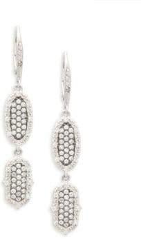 Freida Rothman Pointed Pavé Drop Earrings