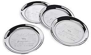 Ralph Lauren Cantwell 4-Piece Stainless Steel Coaster Set - Silver