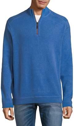 Tommy Bahama Men's New Flip Side Pro Reversible Quarter-Zip Sweater