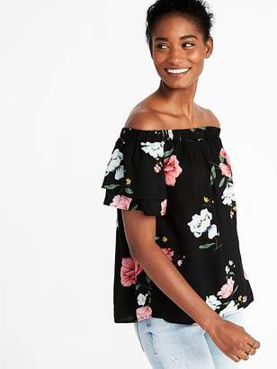 Old Navy Off-the-Shoulder Ruffle-Sleeve Swing Top for Women