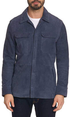 Robert Graham Men's Reavey Suede Snap-Front Jacket