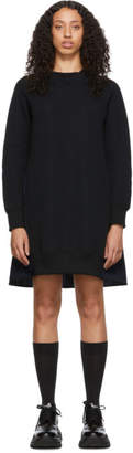 Sacai Black and Navy Sponge Sweatshirt Dress