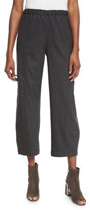 Eileen Fisher Stretch-Wool Lantern Ankle Pants $238 thestylecure.com