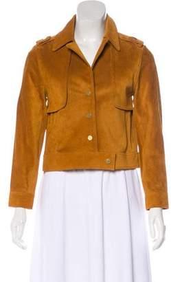 Frame Leather Long Sleeve Jacket