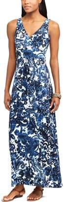 Chaps Petite Vine Empire Maxi Dress