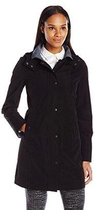 Nautica Women's Hooded Raincoat $150 thestylecure.com