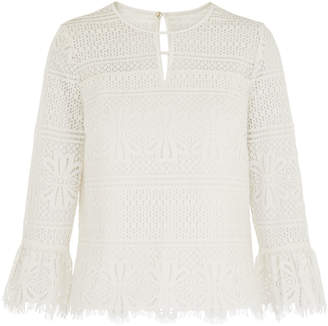 Whistles Marylou Lace Top
