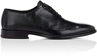 Barneys New York Men's Textured Patent Leather Wholecut Balmorals