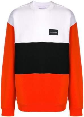 Calvin Klein Jeans colour block sweatshirt