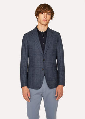 Paul Smith Men's Tailored-Fit Loro Piana Navy Dream Tweed Blazer