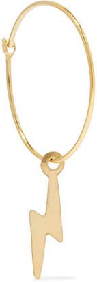 Loren Stewart - Bolt 14-karat Gold Hoop Earring