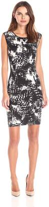 Lark & Ro Women's Sleeveless Printed Sheath Dress