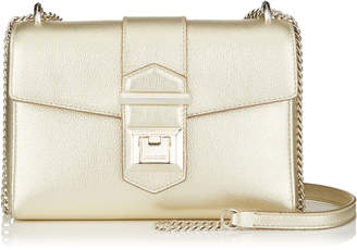 Jimmy Choo MARIANNE/XB Gold Metallic Grainy Calf Leather Bag
