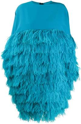 Gianluca Capannolo feather embellished shift dress