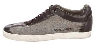 Dolce & Gabbana Woven Low-Top Sneakers