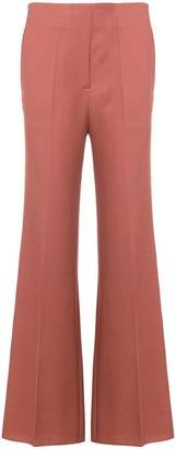 Victoria Beckham creased flared trousers