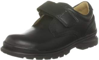 Geox Jr William,Black Velcro Strap Oxford