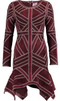 Herve Leger Carlotta Paneled Bandage Mini Dress