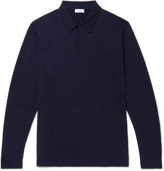 Sunspel Sea Island Cotton-Jersey Polo Shirt - Men - Navy
