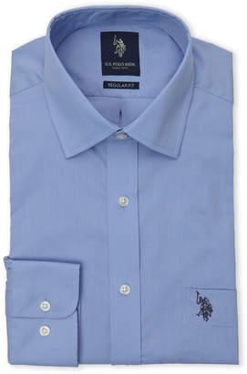U.S. Polo Assn. Ice Blue Poplin Dress Shirt