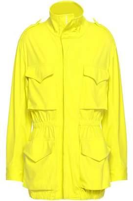 Norma Kamali Neon Tech-jersey Turtleneck Jacket