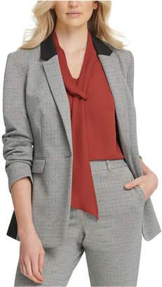 DKNY One-Button Knit Blazer