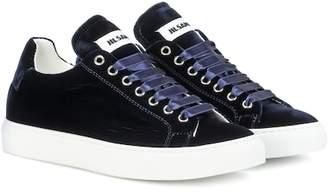 Jil Sander Velvet sneakers