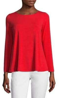 Eileen Fisher Long-Sleeve Jersey Top