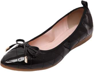 Women Ballet Flats HooH Pointed Toe Stitch Bowknot Ballet Shoes