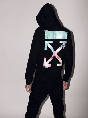 Off-White Off White Lvr Exclusive Printed Cotton Hoodie