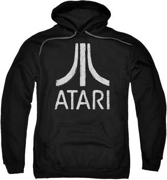 Atari Video Games Classic Logo Distressed Adult Pull-Over Hoodie